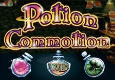 Potion Commotion Pokie Logo
