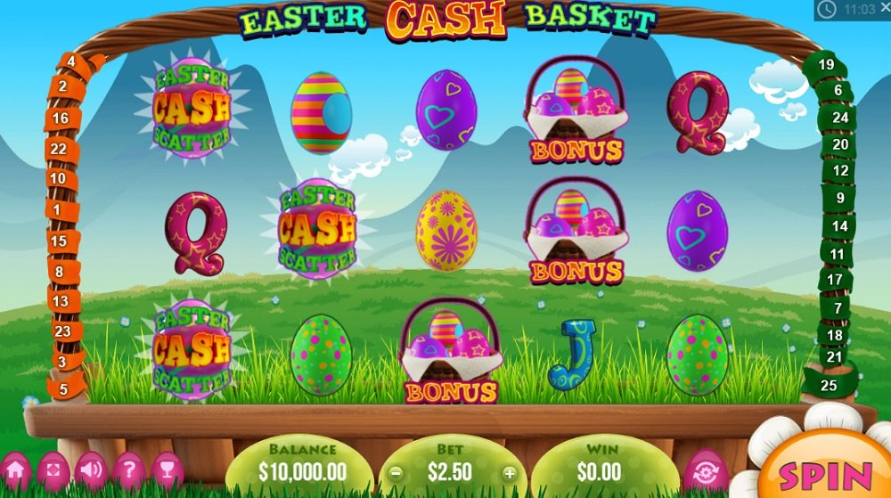 Easter Cash Basket Pokie