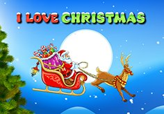 I Love Christmas Pokie Logo