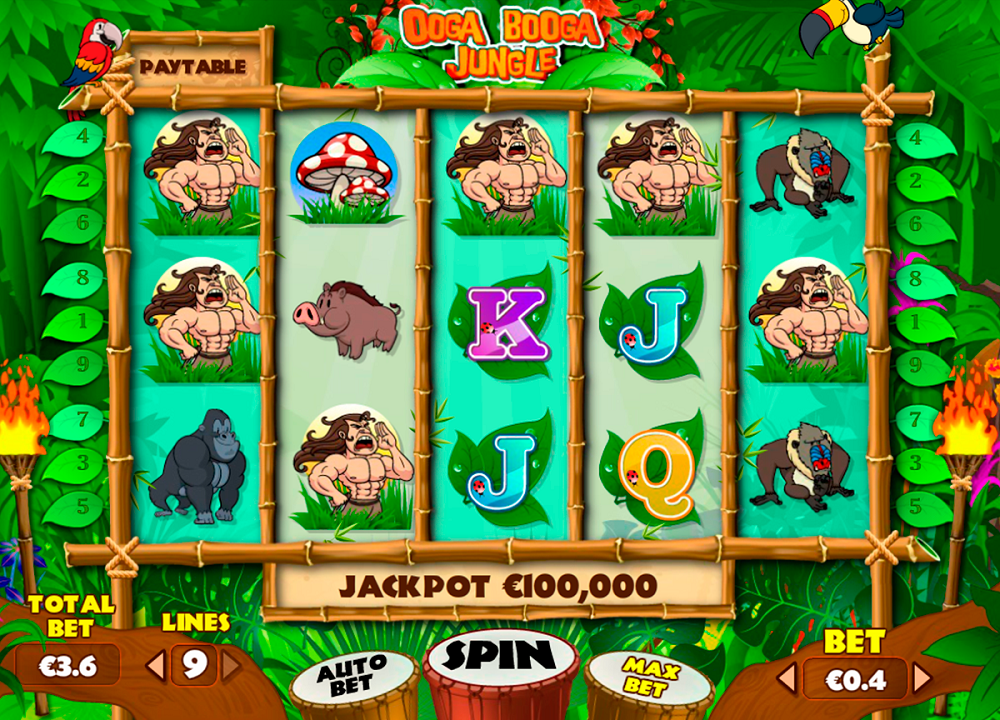 Ooga Booga Jungle Pokie