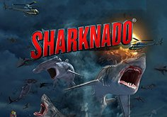 Sharknado Pokie Logo