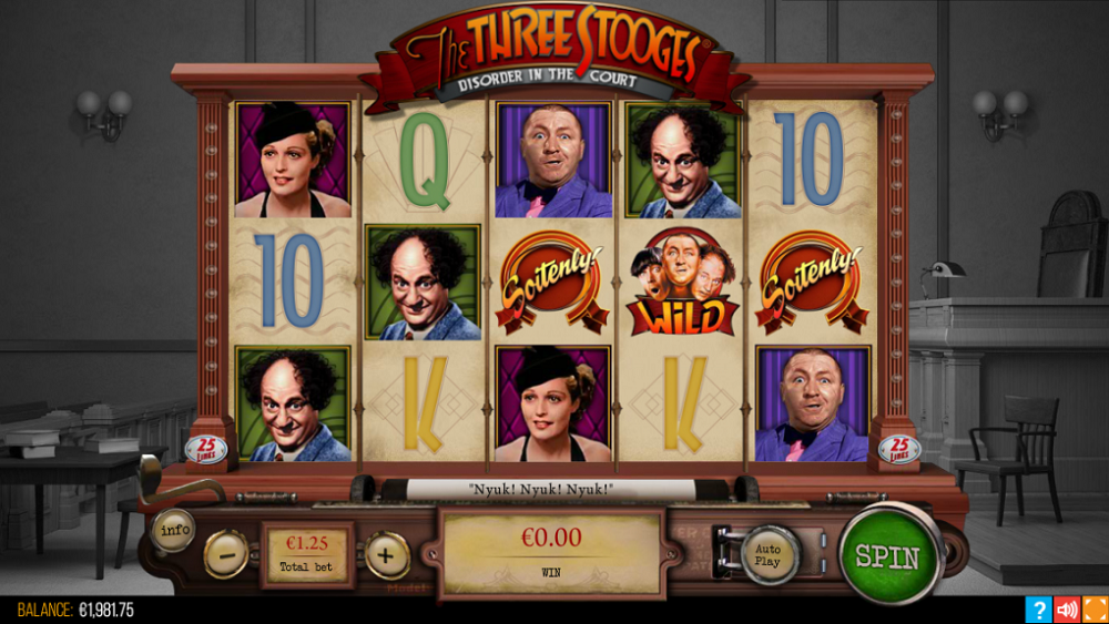 The Three Stooges Disorder In The Court Pokie
