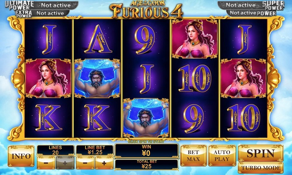 Age Of The Gods Furious 4 Pokie