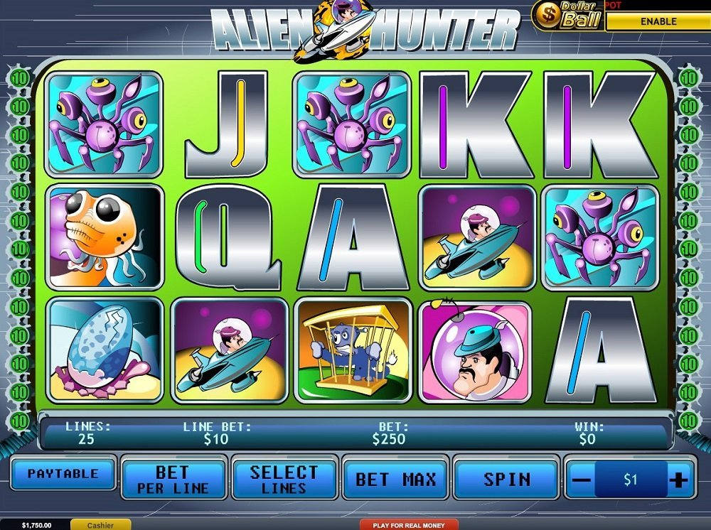 Alien Hunter Pokie