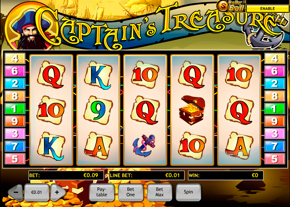 Captains Treasure Pokie