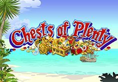 Chests Of Plenty Pokie Logo