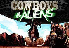 Cowboys 038 Aliens Pokie Logo