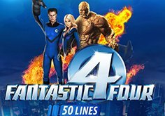 Fantastic Four 50 Lines Pokie Logo