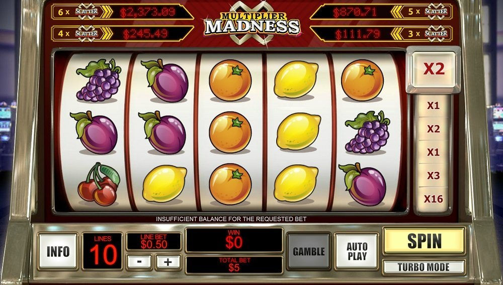Multiplier Madness Pokie