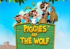 Piggies And The Wolf Pokie Logo