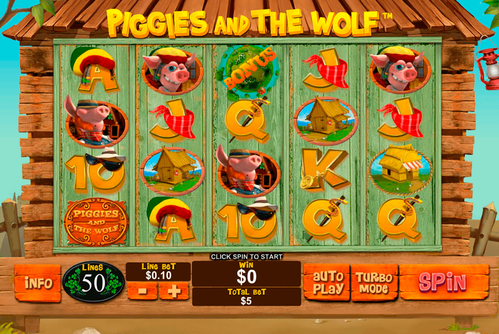 Piggies And The Wolf Pokie