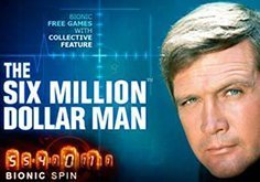 The Six Million Dollar Man Pokie Logo