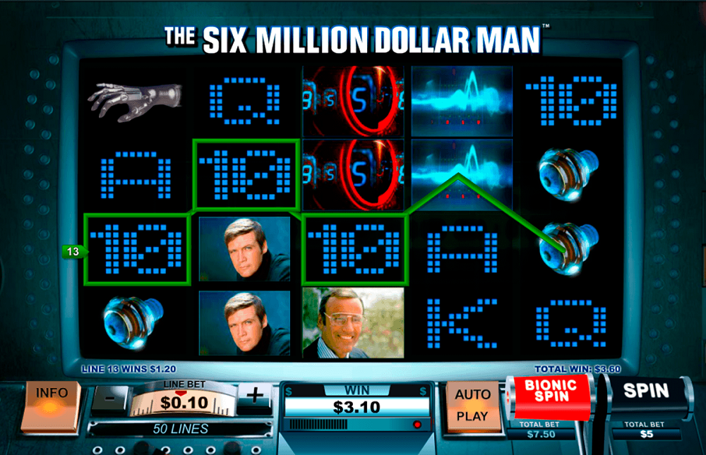 The Six Million Dollar Man Pokie