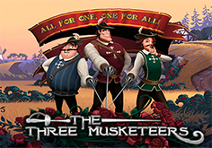 The Three Musketeers And The Queens Diamond Pokie Logo