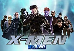 X Men 50 Lines Pokie Logo