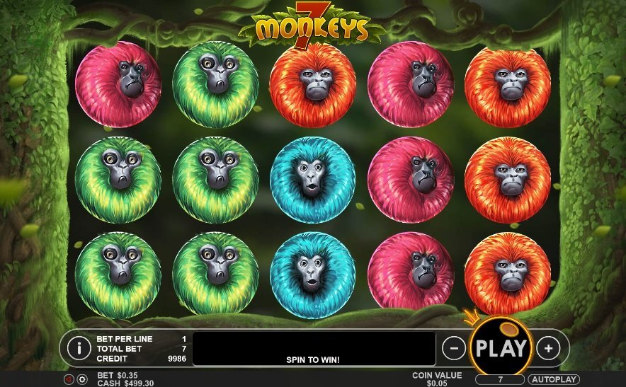 7 Monkeys Pokie