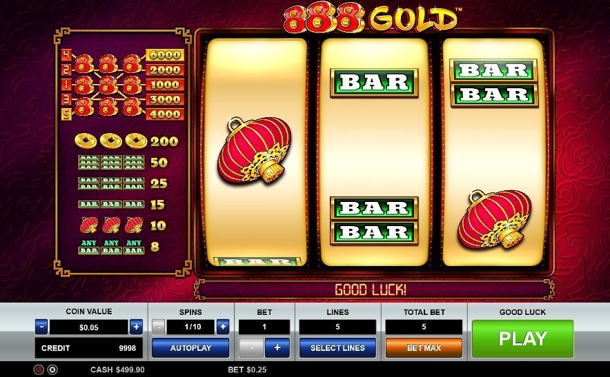 888 Gold Pokie