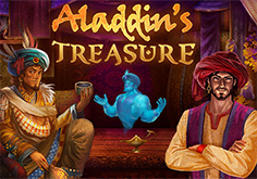 Aladdins Treasure Pokie Logo
