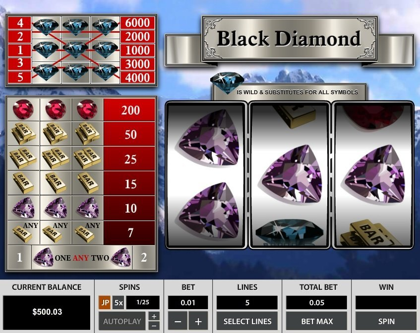Black Diamond 5 Lines Pokie