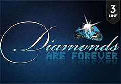 Diamonds Are Forever 3 Lines Pokie Logo