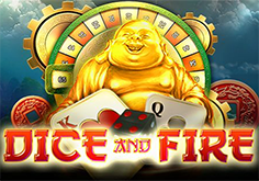 Dice And Fire Pokie Logo