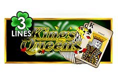 Kings 038 Queens 3 Lines Pokie Logo
