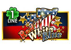Red White Blue 1 Line Pokie Logo