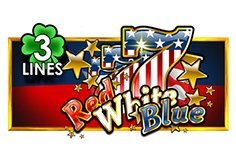 Red White Blue 3 Lines Pokie Logo