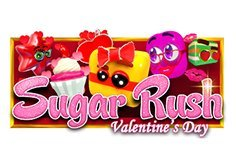 Sugar Rush Valentines Day Pokie Logo