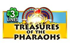 Treasures Of The Pharaohs 3 Lines Pokie Logo