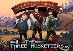 The Three Musketeers Pokie Logo