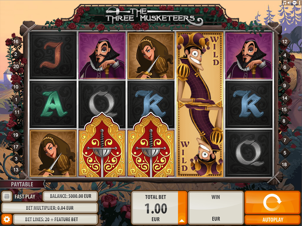 The Three Musketeers Pokie
