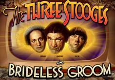 The Three Stooges Brideless Groom Pokie Logo