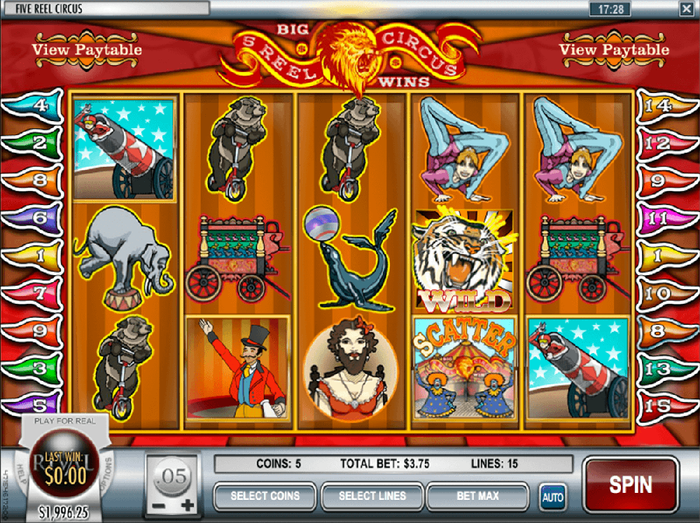 5 Reel Circus Pokie