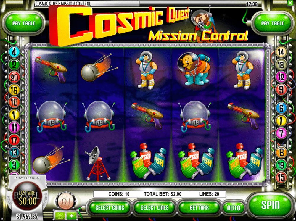 Cosmic Quest Mission Control Pokie