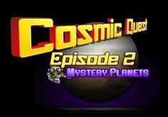 Cosmic Quest Mystery Planets Pokie Logo