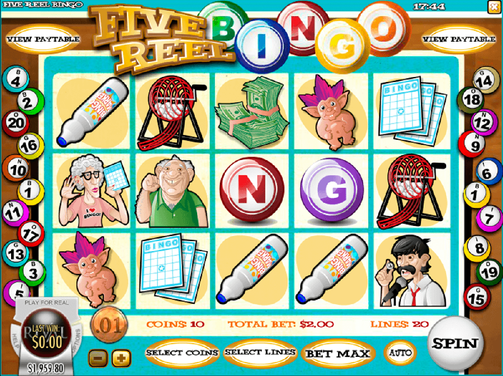 Five Reel Bingo Pokie