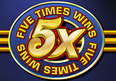 Five Times Wins Pokie Logo