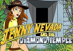 Jenny Nevada And The Diamond Temple Pokie Logo