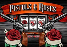 Pistols And Roses Pokie Logo