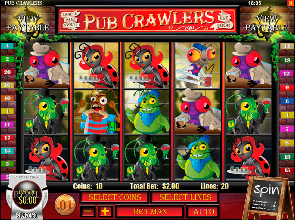 Pub Crawlers Pokie