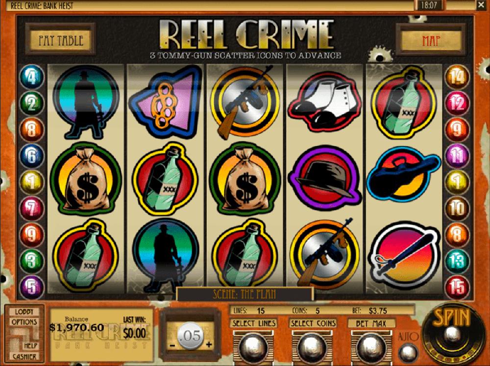 Reel Crime Bank Heist Slot Machine