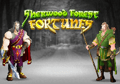 Sherwood Forest Fortunes Pokie Logo