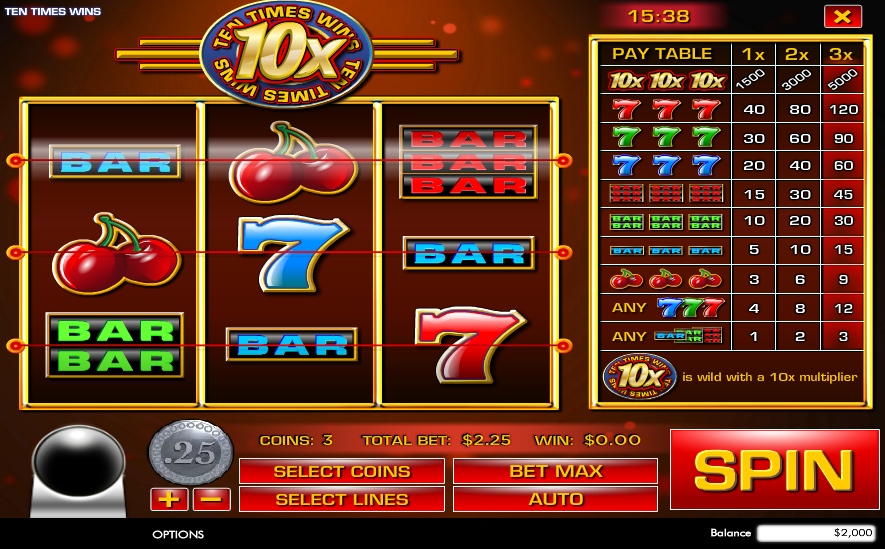 Ten Times Wins Pokie