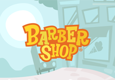 Barber Shop Pokie Logo