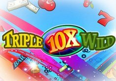 Triple 10x Wild Pokie Logo