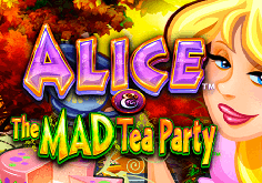 Alice And The Mad Party Pokie Logo