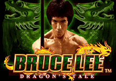Bruce Lee Dragons Tale Pokie Logo