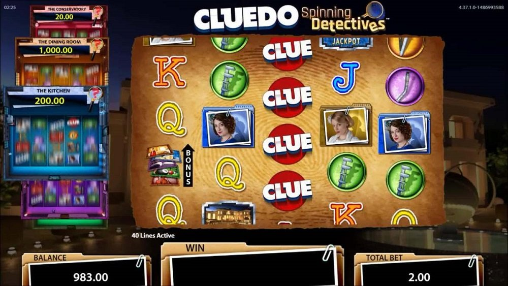 Cluedo Spinning Detectives Pokie