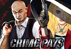 Crime Pays Pokie Logo